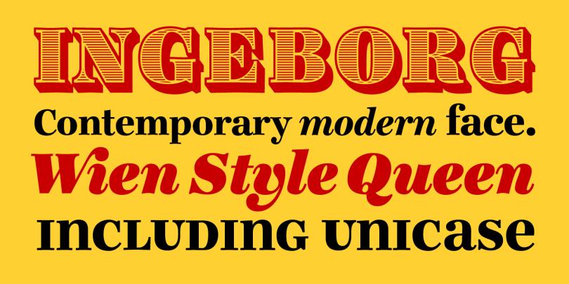 Ingeborg [9 Fonts] | The Fonts Master