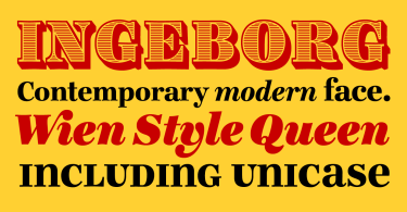 Ingeborg [9 Fonts] | The Fonts Master