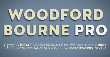 Woodford Bourne Pro Super Family [18 Fonts] | The Fonts Master