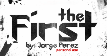 The First Font [1 Font] | The Fonts Master