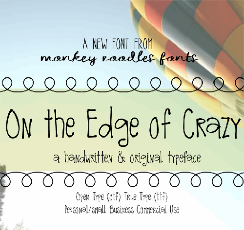 Mrf On The Edge Of Crazy [1 Font] | The Fonts Master