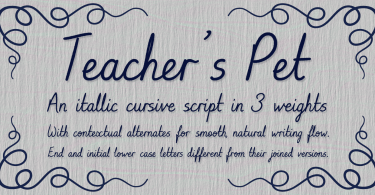Teacher'S Pet [4 Fonts] | The Fonts Master