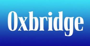 Oxbridge [2 Fonts] | The Fonts Master