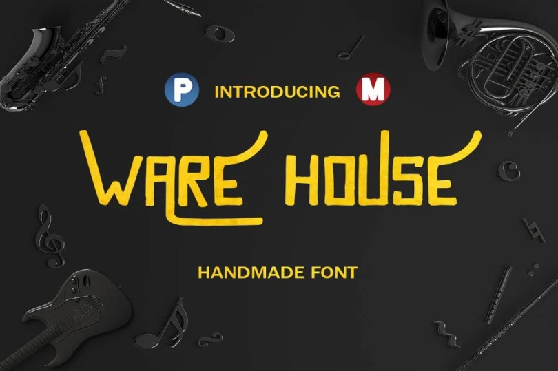 Warehouse [1 Font]   The Fonts Master