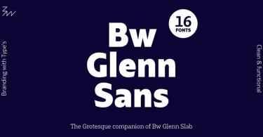 Bw Glenn Sans Super Family [16 Fonts] | The Fonts Master
