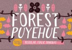 Forest Puyehue [3 Fonts] | The Fonts Master