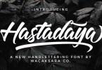Hastadaya [2 Fonts] | The Fonts Master
