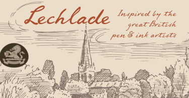 Lechlade [2 Fonts] | The Fonts Master