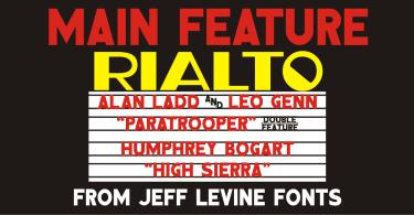 Main Feature Jnl [1 Font] | The Fonts Master