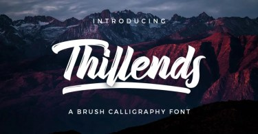 Thillends [2 Fonts]   The Fonts Master