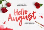 Hello August [4 Fonts] | The Fonts Master