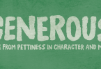 Generous [1 Font] | The Fonts Master
