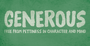Generous [1 Font] | The Fonts Master
