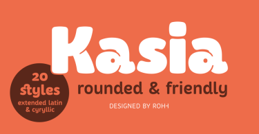 Kasia Super Family [20 Fonts]