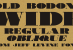 Old Bodoni Wide Jnl [2 Fonts] | The Fonts Master