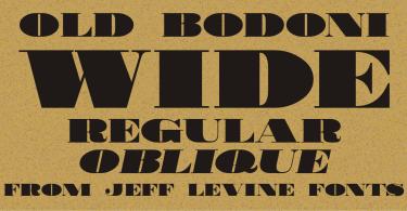 Old Bodoni Wide Jnl [2 Fonts] | The Fonts Master