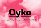 Oyko [10 Fonts] | The Fonts Master