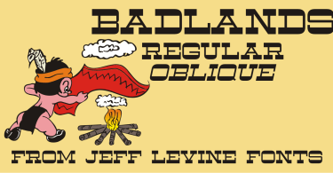 Badlands JNL [2 Fonts]