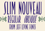 Slim Nouveau Jnl [2 Fonts] | The Fonts Master