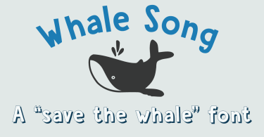 Whale Song [3 Fonts] | The Fonts Master