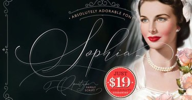 Absolutely Adorable Sophia [4 Fonts + Extras] | The Fonts Master