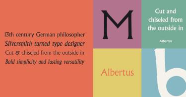 Albertus [3 Fonts]   The Fonts Master