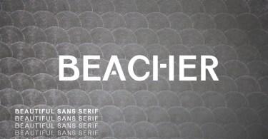 Beacher [6 Fonts]   The Fonts Master