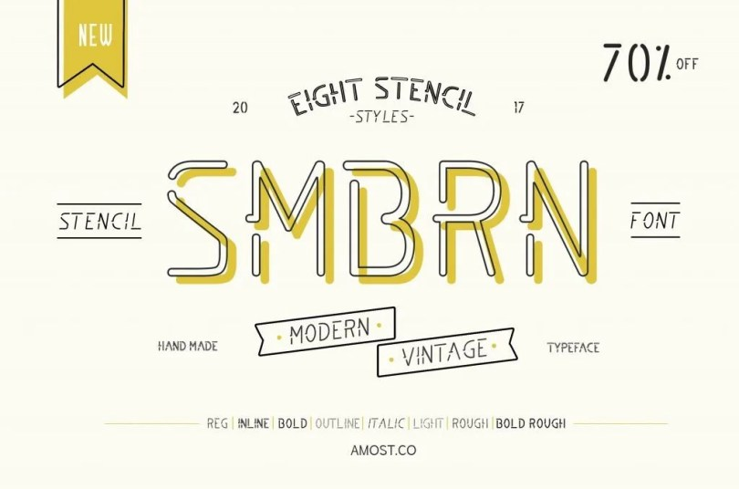 Smbrn Stencil Collection [8 Fonts]   The Fonts Master