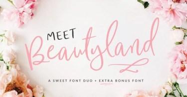 Beautyland Script [3 Fonts] | The Fonts Master