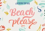 Beach Please [3 Fonts] | The Fonts Master