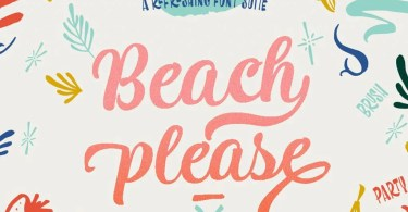 Beach Please [3 Fonts]