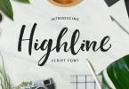 Highline [4 Fonts] | The Fonts Master