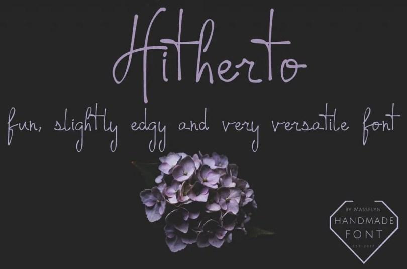 Hitherto [1 Font]