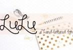 Rf Lulu [1 Font]   The Fonts Master