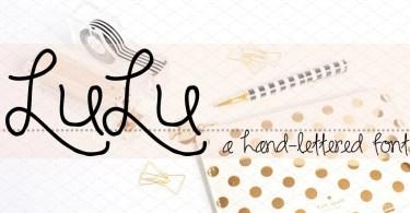 Rf Lulu [1 Font] | The Fonts Master