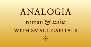 Analogia [2 Fonts] | The Fonts Master