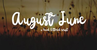 August June [1 Font] | The Fonts Master