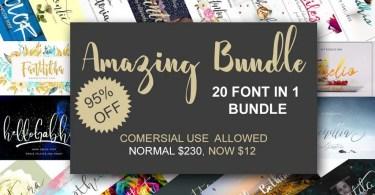 20 Fonts Bundle [20 Fonts]