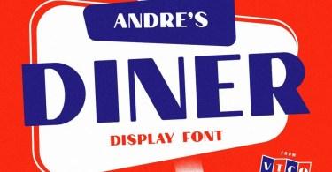 Andre'S Diner [1 Font] | The Fonts Master