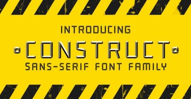 Construct [4 Fonts] | The Fonts Master