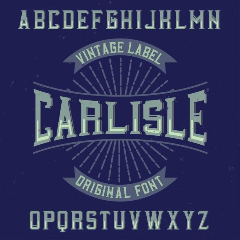 Carlisle [6 Fonts] | The Fonts Master