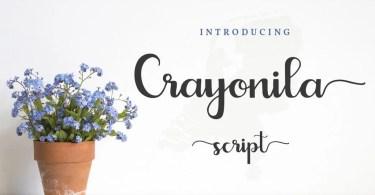Crayonila Script [1 Font] | The Fonts Master