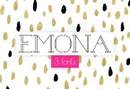 Emona [3 Fonts] | The Fonts Master