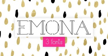 Emona [3 Fonts] | The Fonts Master