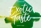 Exotictaste Script [1 Font] | The Fonts Master