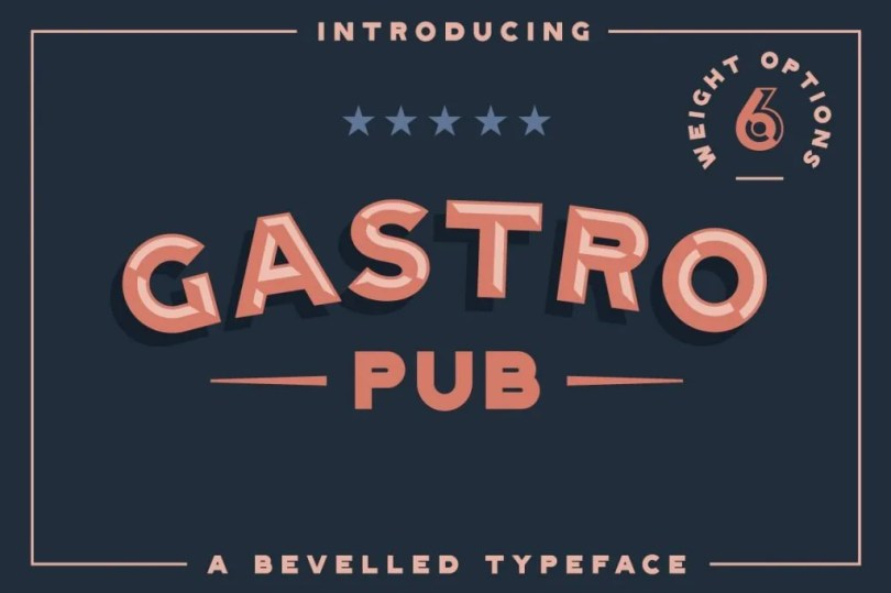 Gastro Pub [6 Fonts] | The Fonts Master