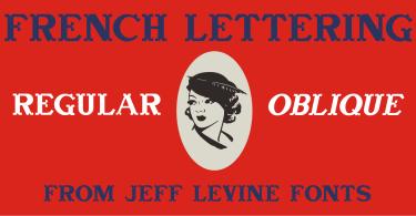 French Lettering JNL [2 Fonts]