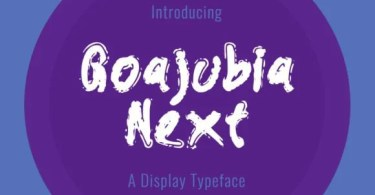 Goajubia Next [1 Font] | The Fonts Master