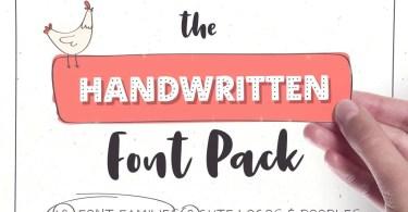 Handwritten Font Pack & Extras [13 Fonts + Extras]