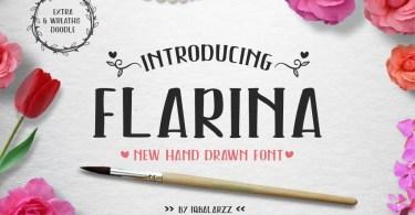 Flarina [1 Font + Extras] | The Fonts Master